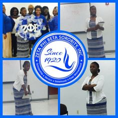 "Soror Tonja Murphy does a ZHope program at Tougaloo College titled ""How to Sale Yourself Without Selling Yourself Short."" Sponsored by Nu Beta Chapter Sept 2015"