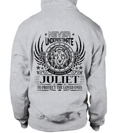 # JULIET NEVER UNDERESTIMATE .  JULIET NEVER UNDERESTIMATE  A GIFT FOR THE SPECIAL PERSON  It's a unique tshirt, with a special name!   HOW TO ORDER:  1. Select the style and color you want:  2. Click Reserve it now  3. Select size and quantity  4. Enter shipping and billing information  5. Done! Simple as that!  TIPS: Buy 2 or more to save shipping cost!   This is printable if you purchase only one piece. so dont worry, you will get yours.   Guaranteed safe and secure checkout via:  Paypal…