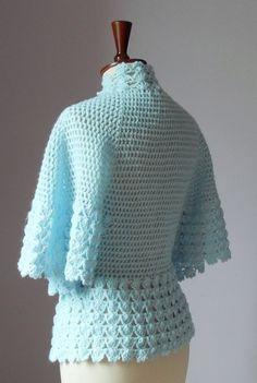 Chaqueta de ganchillo cama o chaqueta ligera por Silvia66 en Etsy