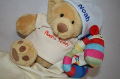 Gorgeous personalised baby gifts from Embroidery Wizard - www.embroiderywizard.org