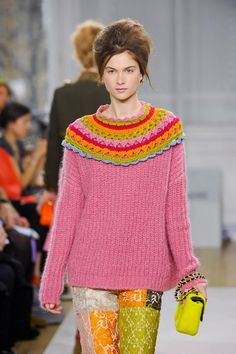 customize and update an old sweater. CROCHET FASHION Moschino Cheap & Chic autumn 2012