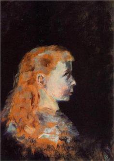 Portrait of a Child - Henri de Toulouse-Lautrec