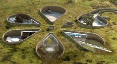Flower shaped underground home
