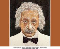 tomas lasansky art   Tomas Lasansky (b. 1957 American) ~ Albert Einstein 56 x 48 inches ...