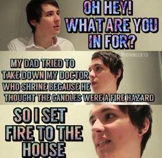 This is me with my Dan and Phil shrine XD