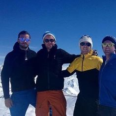 Skiing with pals