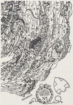 Publisher: Meldemann, Nikolaus, Title: »Der Meldeman-Plan« Belagerung der Stadt Wien, Detail [6/6], Date: 1529 Planer, Vintage World Maps, History, Knights, City, Historia, Knight