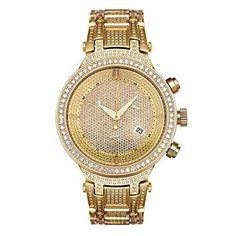 Joe Rodeo JJM22 Master Man Diamond Watch, Yellow Dial with Gold Band *** Check this awesome product by going to the link at the image.