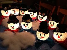 Ivy Bowl Snowman Craft: How to Make a Snowman Using an Ivy Bowl
