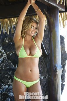 Kate Upton was photographed by James Macari in the Cook Islands. Swimsuit by Ola Vida.