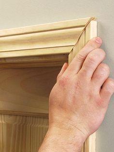 Wood Door Molding & tutorial on cutting crown for door moldings her version doesn\u0027t ...
