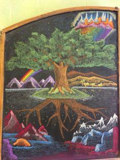 Yggdrasil, first Norse mythology block. Grade 4, Waldorf School of Atlanta.
