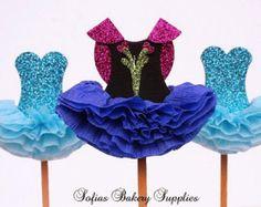 6 pc set dulce rosado princesa Cupcake por sofiabakerysupply