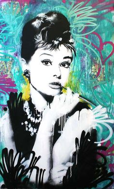 AUDREY HEPBURN, Raw Art, NYC.