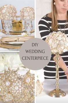 Learn how to make this ultra glam diy bling wedding centerpiece with our simple tutorial video. Learn how to make this ultra glam diy bling wedding centerpiece with our simple tutorial video. Bling Centerpiece, Diy Centerpieces, Wedding Venue Inspiration, Wedding Ideas, Wedding Stuff, Wedding Planning, Dream Wedding, Bling Wedding Decorations, Space Wedding