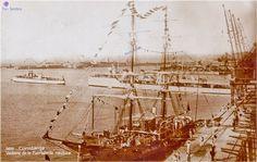 Mircea I, carti postale - School Ship Mircea I, 1882 and later - Romania - The Community Forum (RTC) Royal Navy, Romania, Sailing Ships, Transportation, Community, School, Vehicles, Water, Gripe Water