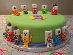 Eileen Atkinson's Celebration Cakes: Cbeebies Alphablock birthday cake