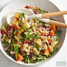 Roasted Vegetable Pasta Salad Use our Basic Roasted Vegetable recipe to quickly throw together this easy pasta salad.