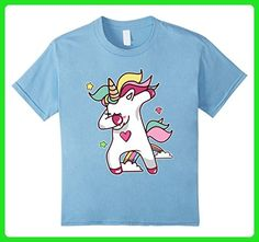 Kids Cute Unicorn dabbing Tshirt 6 Baby Blue - Fantasy sci fi shirts (*Amazon Partner-Link)