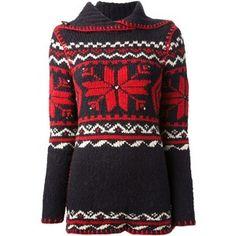 RALPH LAUREN BLUE LABEL snowflake knitted jumper