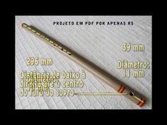 Flauta PVC em D - Digitação e medidas para você confeccionar. - YouTube