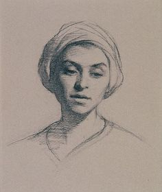 Adrienne by Rupert Alexander, Charcoal on paper