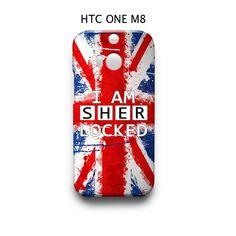 Union Jack Sherlock HTC One M8 Case Cover Wrap Around