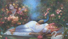 Queen's Dream - Eternal love of Radha Krishna by Artist Hariom Hitesh Singh Radha Krishna Pictures, Krishna Images, Radha Krishna Love, Radhe Krishna, Radha Rani, Lord Krishna, Krishna Leela, Lord Shiva, Lakshmi Images