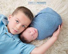 Light Blue Stretch Knit Wrap Newborn Photography | Beautiful Photo Props