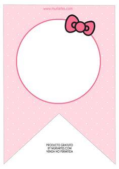Hello Kitty Baby, Hello Kitty Themes, Hello Kitty Images, Hello Kitty Birthday, Happy Birthday Banner Printable, Printable Birthday Banner, Happy Birthday Banners, Hello Kitty Invitation Card, Anniversaire Hello Kitty