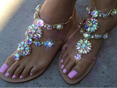 Gold leather handmade sandals for summer 2016!