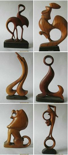woodcarving--animals by LINWANG:☽ ¯\_(ツ)_/¯ ☽ ☼☾✧・゚. ¯\_(ツ)_/¯