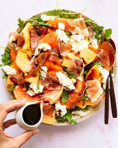 Combining the classic and always delicious melon, prosciutto, and extra virgin olive oil salad with succulent and juicy papaya, creamy and luscious burrata, and sweet and tangy aged balsamic vinegar creates a flavorful bridge between tradition and transformation. Aged Balsamic Vinegar, Dinner Salads, Prosciutto, Meals For The Week, Summer Salads, Soup And Salad, Quick Easy Meals, Summer Recipes, Recipes