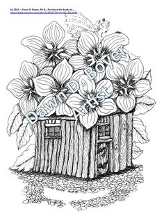 Delightful pictures in the Big Kids Coloring Book: Fairy Houses and Fairy Doors Volume Two by Dawn D. Boyer, Ph.D.   #DawnDBoyer, #Fairies, #FairyDoors, #FairyHouses, #AdultColoringBook, #BigKidsColoringBook, #AdultColoringBook, #Crayons, #Markers, #Paint, #artwork, #colors, #psychotherapy, #spiritual, #stateofbeing, #destress, #wellbeing, #Copyright2015