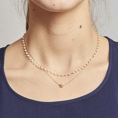 Collier Etoile de perles blanches, Zag Bijoux