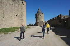A little frisbee in Carcassonne, France