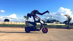 Just because nobody has tried it before, doesn't mean you shouldn't  Mangesh Borse #Featured #Shuttographer #StaffPick #bike #rider #acrobat #motorbike #acrobatics #skills #bluesky #bespecial