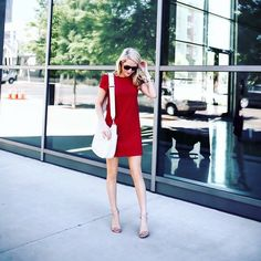 Shift gears from day to play in @krystalschlegel's classic red t-shirt shift dress | Get ready-to-shop details with www.LIKEtoKNOW.it | www.liketk.it/2iJG0 #liketkit