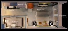 Small Studio Apartment Layout Design Ideas – home design - Modern Studio Apartment Floor Plans, Condo Floor Plans, Studio Floor Plans, Studio Apartment Layout, Small Studio Apartments, Studio Condo, Studio Layout, 3d Studio, Apartment Plans