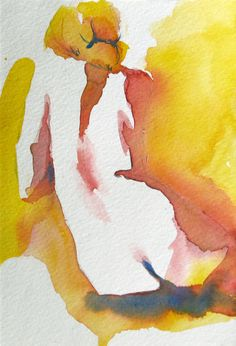 watercolour - negative spaces - Original artwork by Melanie Thompson