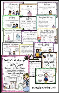 Writers Workshop Fairytale packet is packed with EVERYTHING YOU MIGHT NEED for this unit. This has lesson plans with connections, mini-lessons, active engagement, independent practice and sharing. This is also aligned with Common Core and may be used as a reference how your students performs in class.