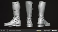 I had the pleasure of creating while working at for Call of Duty: WWII DLC. I was responsible for creating the high poly, low poly, bakes and textures. Call Of Duty, Cod, Wwii, Rubber Rain Boots, Combat Boots, Shoes, Boots, Zapatos, World War Ii