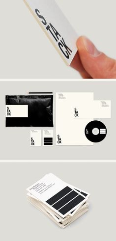 Stack Architects Design Identity Branding Corporative Black and White