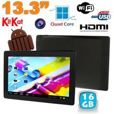 Tablette tactile 13 pouces Android 4.4 KitKat WiFi Bluetooth Noir. http://www.yonis-shop.com/tablette-tactile-13-pouces/2092-tablette-tactile-13-pouces-android-4-4-2-wifi-bluetooth-16go-noir.html