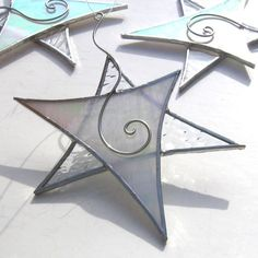 Sparkling Winter Stained Glass Ornament by katiediditglass, $18.00