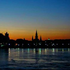 """""""Trust the past to God's mercy the present to God's love and the future to God's providence."""" Augustine of Hippo (Sunset from a riverboat on the Mississippi looking over St. Louis Cathedral and the French Quarter New Orleans Louisiana) #sunsets #sunset #sunrise_sunsets_aroundworld #sky #visualfever #neworleans #frenchquarter #mississippiriver #thisismysouth #explorelouisiana #stlouiscathedral #louisiana by jronniecooper"""