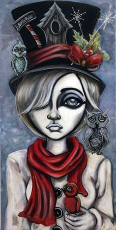 Lizzy Falcon big eye art