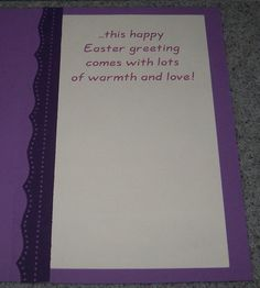Lavender Wishes (inside) - Scrapbook.com