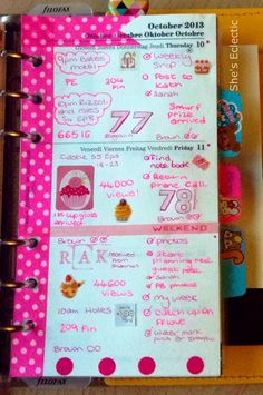 She's Eclectic: My week in my Filofax #41 - close up