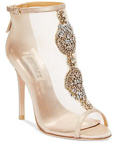 Badgley Mischka Rana Evening Booties - Sandals - Shoes - Macy's